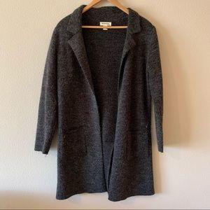 Monteau Dark Gray Coatigan Size Large